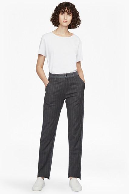 กางเกงยีนส์ผู้หญิงขากว้าง A-Line Cotton