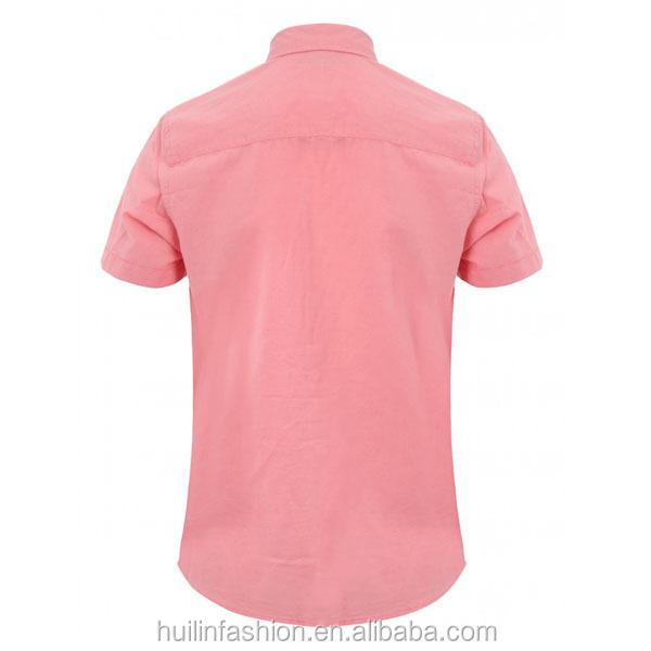 Camisa Corta Manga Para Los Blend Lino Hombres De Rosa 6aqwxq4zId