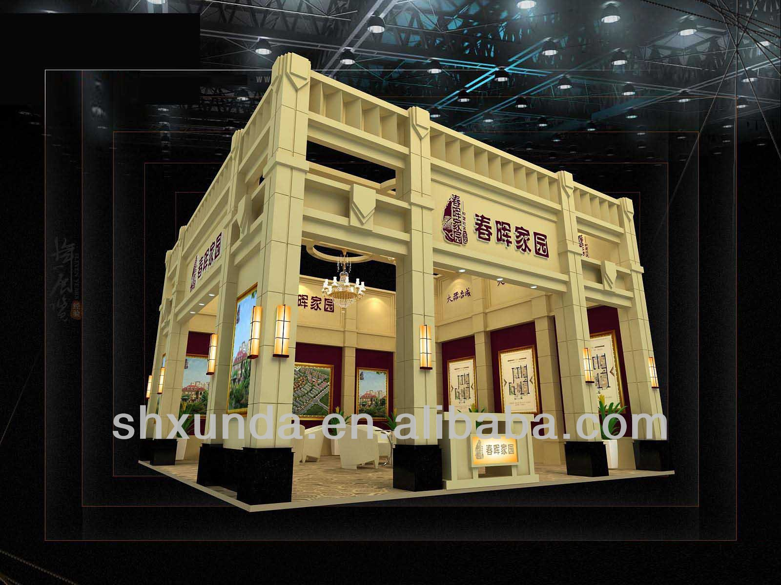 Real Estate Exhibition Stall : Real estate exhibiton fair event booth stall stand design and