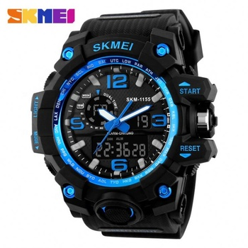 Top seller skmei 1155 montre sport dive analog digital watch for men chronograph 50m