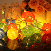 Cotton Ball Globe String Light Battery Powered Globe Fairy Lantern Christmas Lights for Garden Party Home Decoration