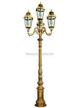 Cast Aluminum Decorative Antique Garden Lighting Pole
