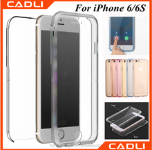 front and back full body clear custom flip case for mobile phone case for iphone 6 6s