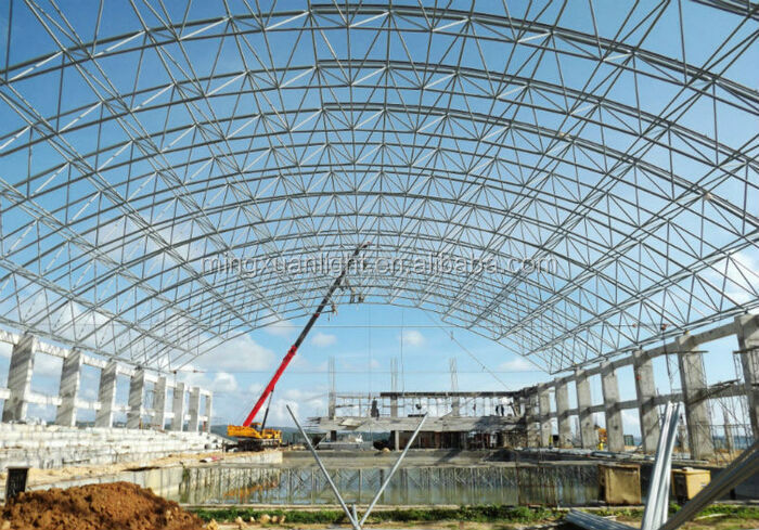 Amazing Space Grid Frame Construction Steel Roof Truss For Sale