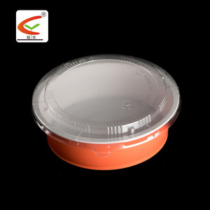 High quality microwaveable disposable PP plastic bowl with OPS lid 850ml