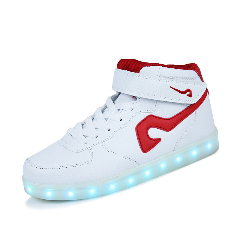 led shoes white high tops. hot sell white high top led casual shoes sneakers for men women best quality adults led tops