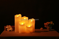Led candle flameless dripping pillar red or white candles