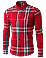 2019 Top sale Regular simple cotton mens plaid shirt wholesale men's plaid clothing factory from China