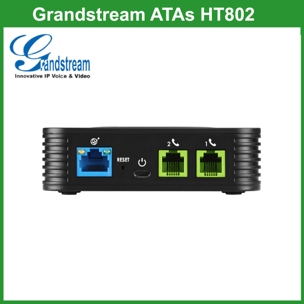 Grandstream 2FXS VOIP ATA HT802 Điện Thoại Analog Wireless Adapter