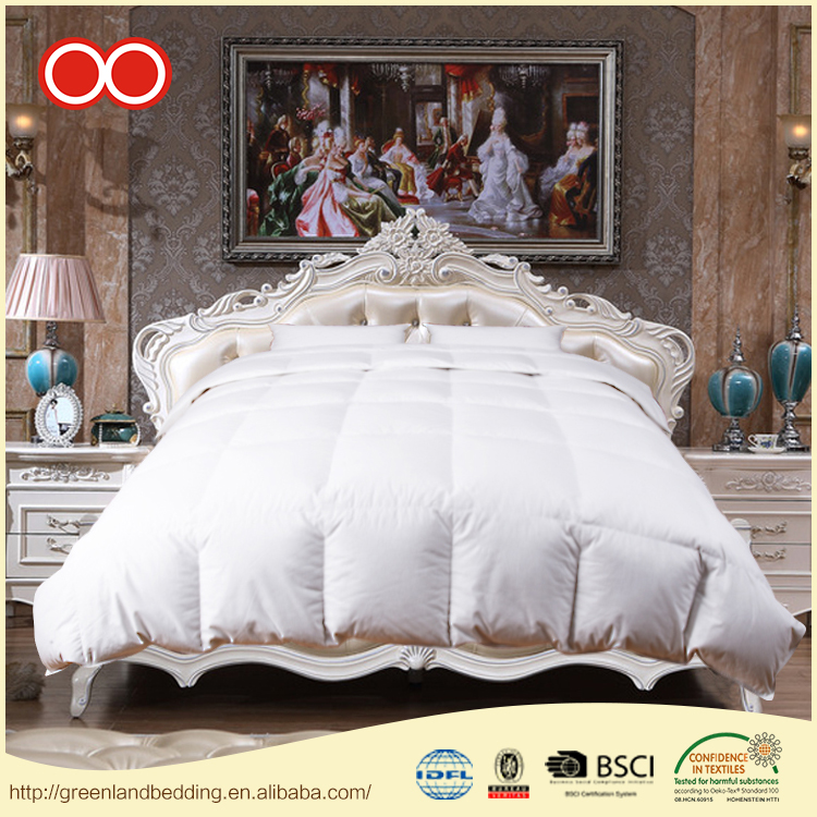 100% Cotton Home Textile Hotel White Quilted Goose Down Duvet