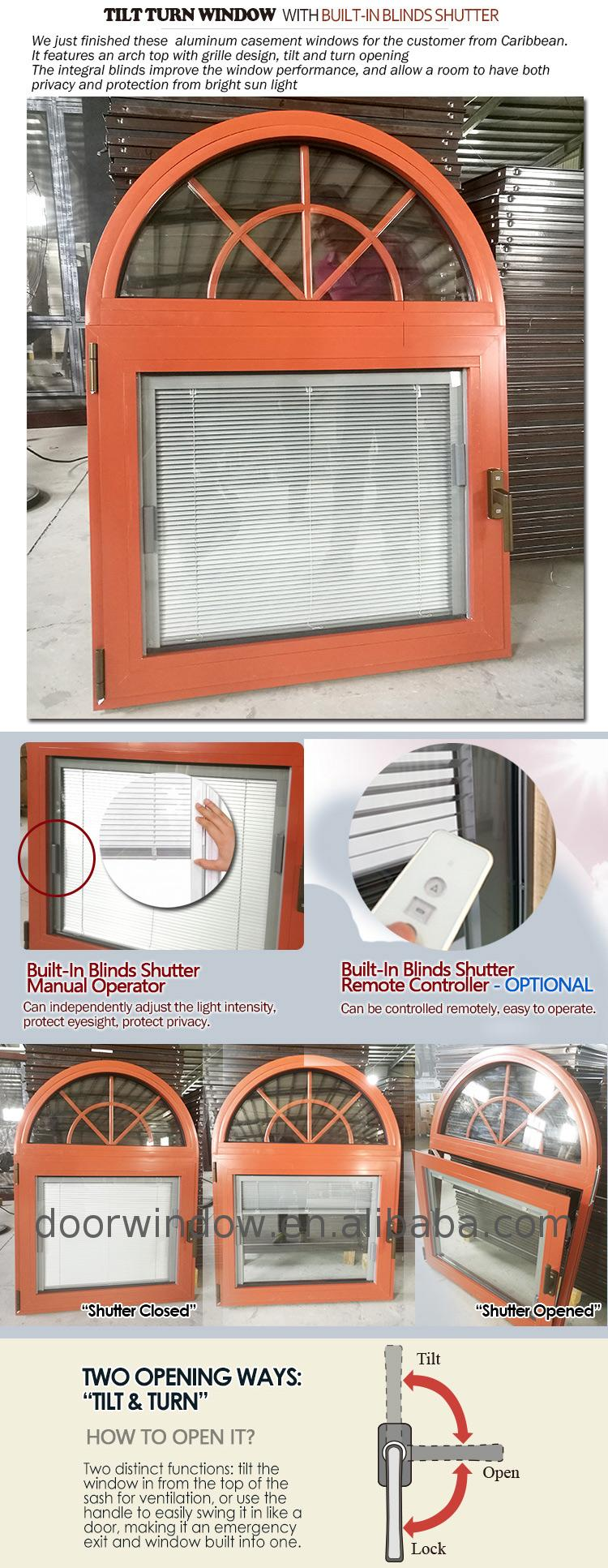 Grille design frosted glass frame round window