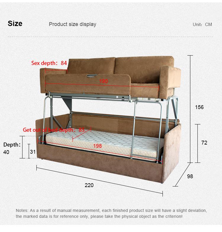 Oem Sofa Furniture Foldable Buy Living Double Folding Modern Room Metal Designs Couch Bunk Mechanism Cum Bed Rjc345ALq