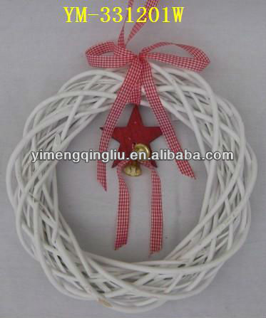 Hot Sale Wicker Wreath Christmas Decoration