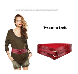 ZH0224X Retro Style Elastic Waist Closure Lady Body Stretch Belt With Down Jacket Coat Leather Belt