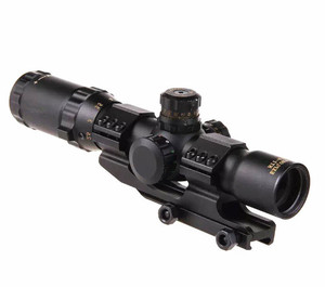 LUGER Hunting Riflescope 1-4X28 Tactical Optical Sight Air Riflescope Gun For Wholesale