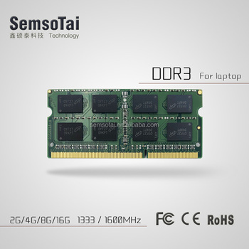 High quality DDR3 8GB 1333 1600 mhz ram for laptop can work with all motherboards