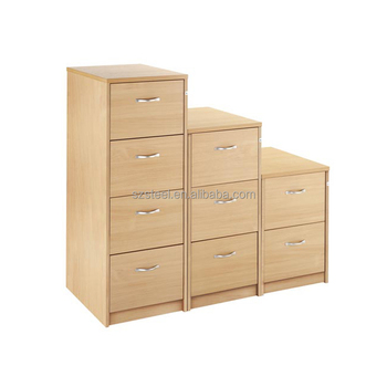 wooden top 2/3/4 drawers fixed strong lateral filing cabinet