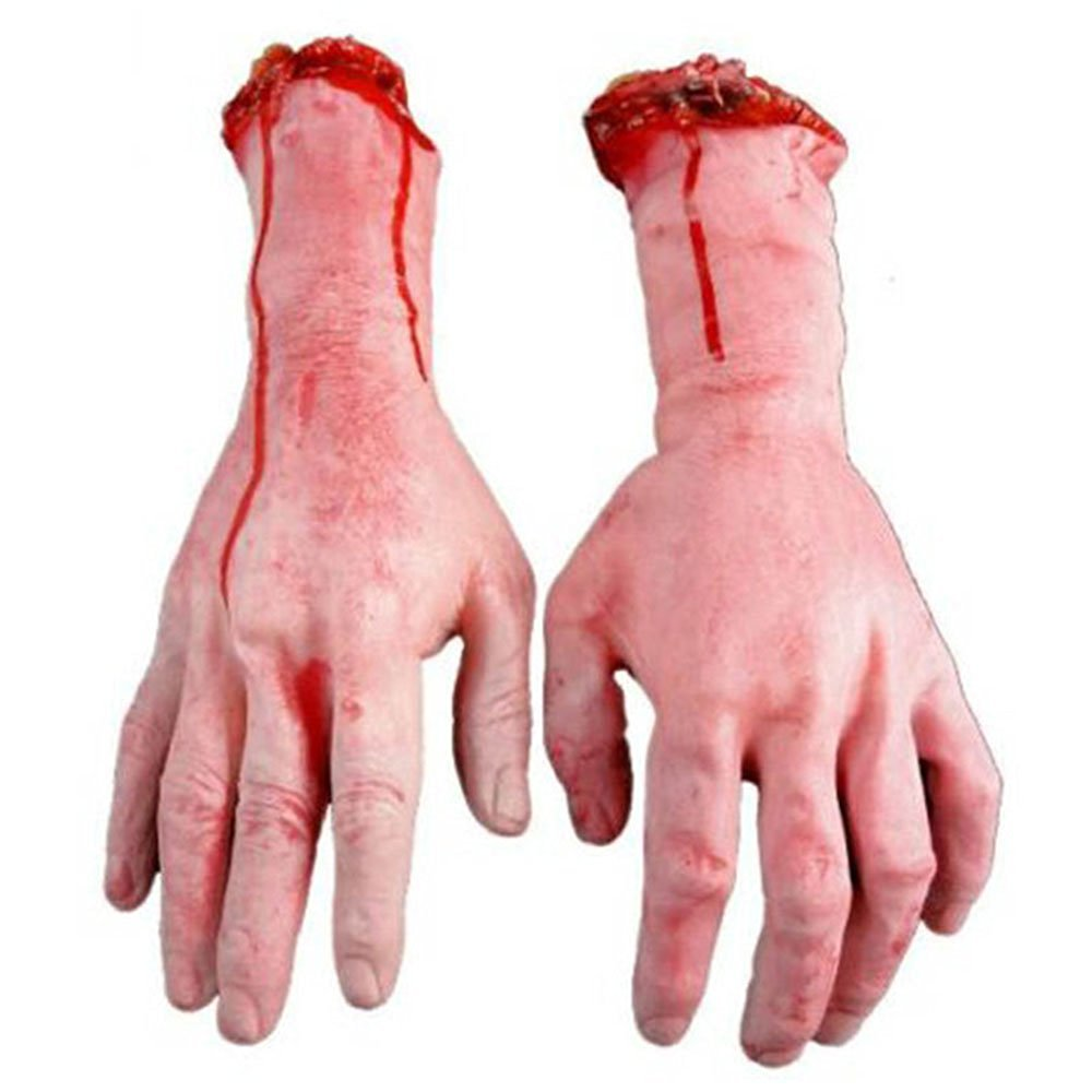 Health Care Bloody Severed Fake Latex Arm Arms Leg Legs Foot Feet Hand Hands Halloween Prop