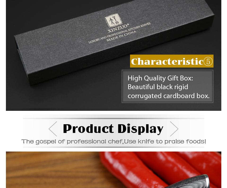 "HTB1JaaXg22H8KJjy1zkq6xr7pXaU - XINZUO 3.5"" inch Paring Knife 67 layers Japan Damascus Steel Peeling Fruit Knife"