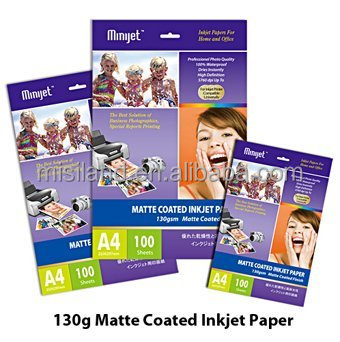 108g Matte Cast Coated inkjet photo paper