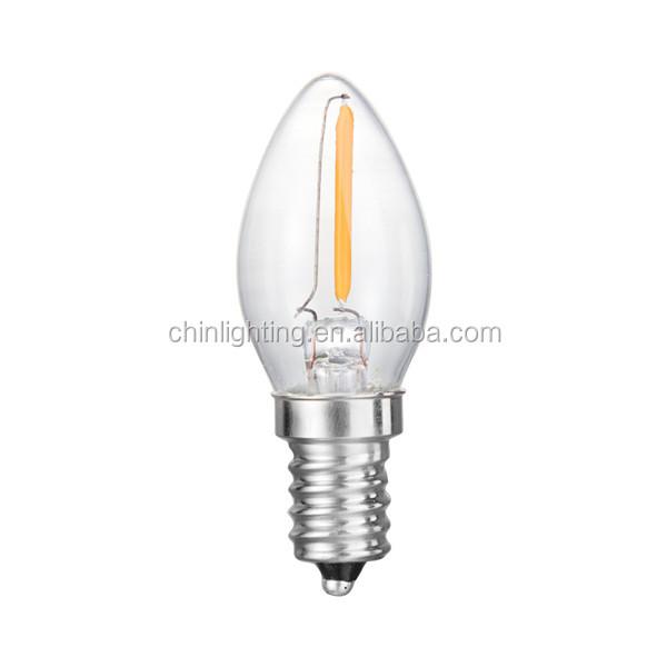 Wholesale C7 1w 0.5w mini led candle lights filament led bulb ...