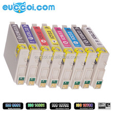 ICBK33 ICBL33 ICC33 ICGL33 ICM33 ICMB33 ICR33 ICY33 compatible color inkjet cartridge with chip replace for Epson PX-G930