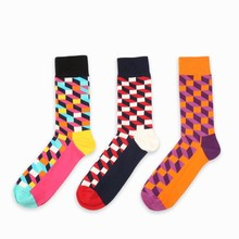 Happy Colors Sock Cotton Men Socks Summer Europe Spring Hot Casual Business Fashion Young Man Sock