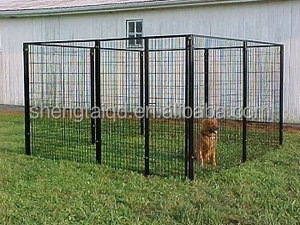 wholesale welded wire mesh large dog cage/dog run kennels/dog run fence