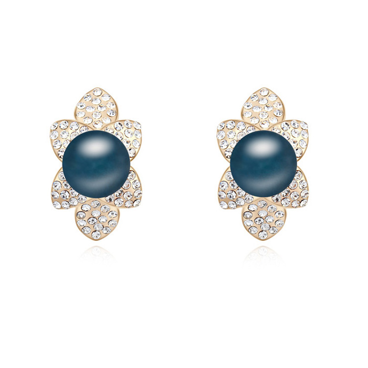 Albaba Gold Ear Tops Designs Daily Wear Pearl Earring Designs - Buy ...