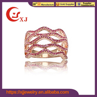 Fashion Design Copper Diamond Indian Ruby Ring