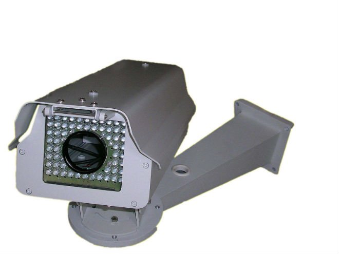 Bracket Outdoor Housing with Heater Blower for CCTV Fixed Box Security Camera