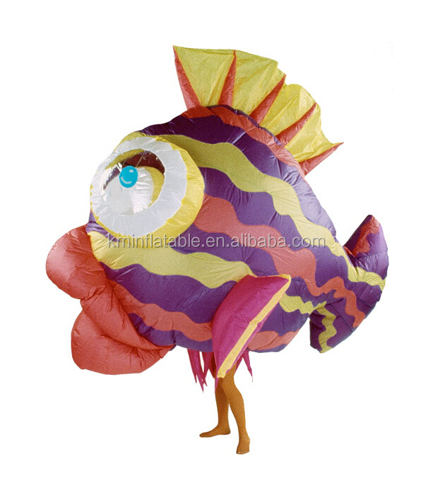 Inflatable tropical fish costume buy inflatable tropical for Fish costume adult