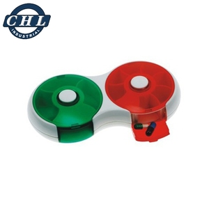 High quality pill box with easy rotating mechanism