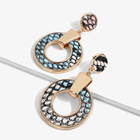 2019 New Leather Earrings Leopard Print Fashion Large Circle Alloy Eardrop