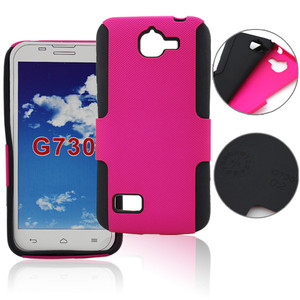 High quality Mesh+silicone combo phone case for Huawei G730 cover