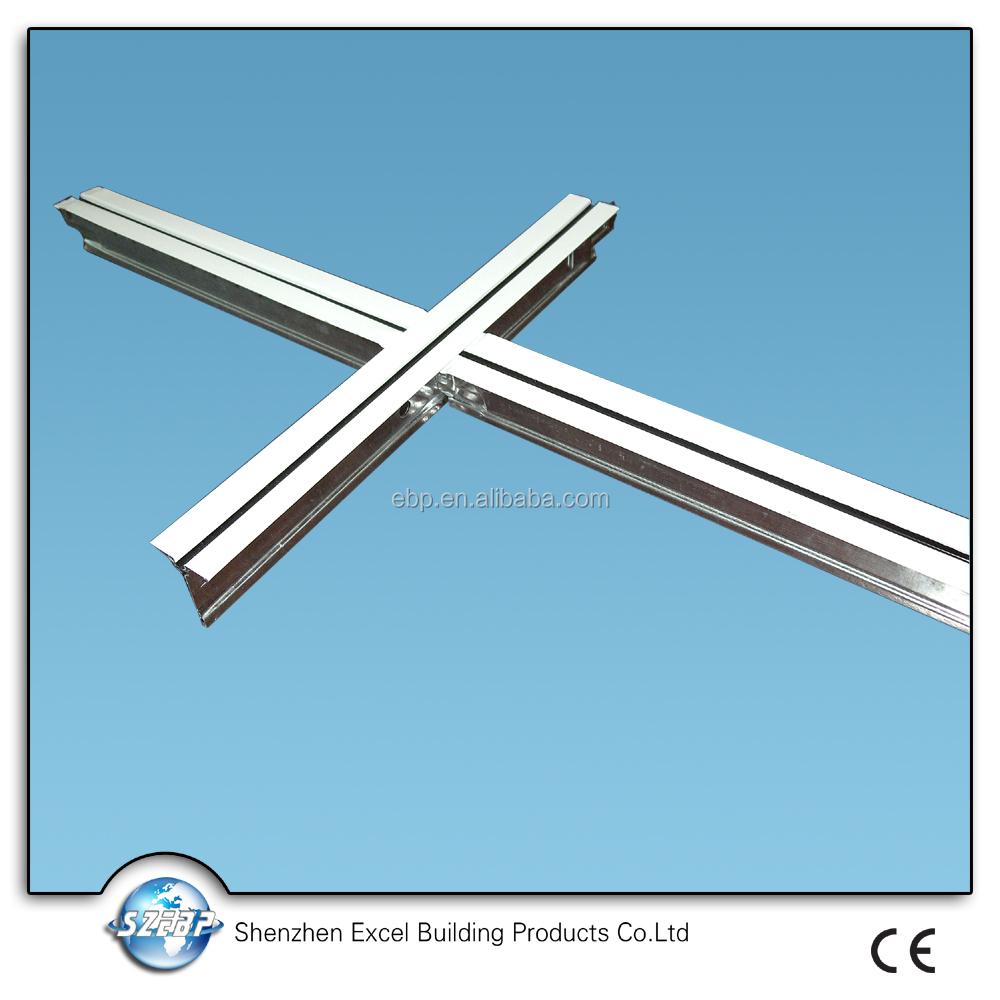 Metal Ceiling Track Suspended Ceiling Cross Tee T Bar