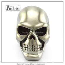 Heavy Huge Matt or High Polishing Stainless Steel Skull Ring with Solid Back for strong men motorcycle riders and bikers