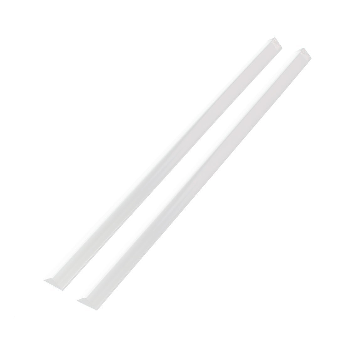 uxcell 10mmx10mmx250mm Triangular Shape Solid PMMA Bars Acrylic Rods Clear 2pcs