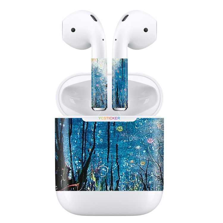 hot design for airpods bluetooth earphoone skin USA 3m removable reusable vinyl decal sticker