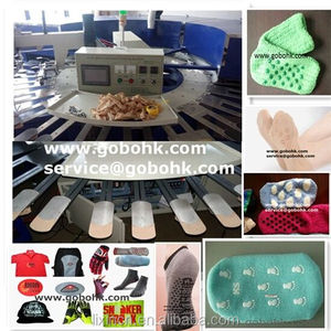 Automatic socks/gloves rotary silk screen printing press for sale