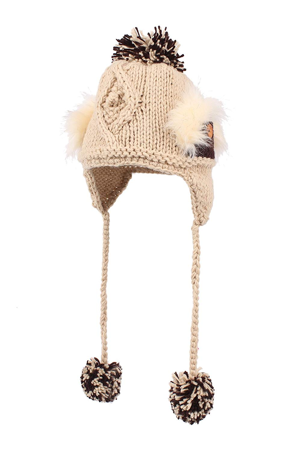 71ff4d9707e Get Quotations · HUAN XUN Earflap Hat Winter Faux Fur Trapper Ski Hats  Womens Girls Mens Multi Styles