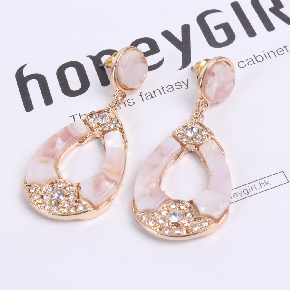 Wholesale Newest Design Acrylic Hoop Eardrop Fashion  Earrings with Tassel