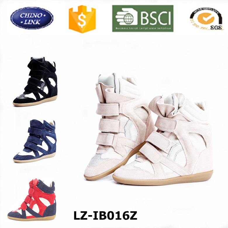 Customized Classic popular European sneakers Isabelle women wedge shoes Height increasing mar casual women' shoe