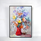 famous handmade decor flower paintings in acrylic abstract wall art painting