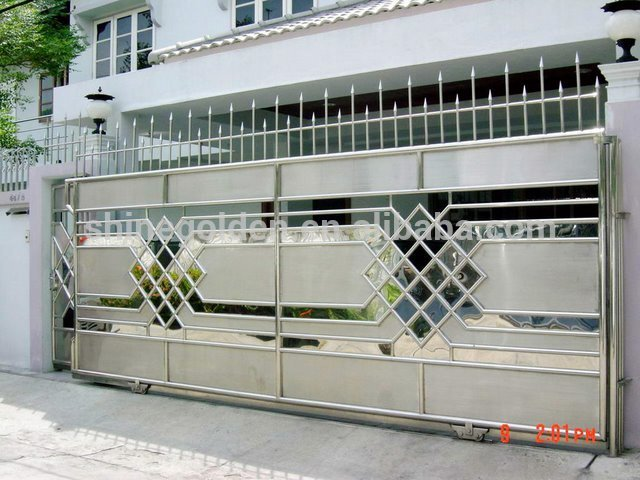 Gyd 15g0061mirror Finished Stainless Steel Sliding Gate Designs Design Of Main Modern Gates Automatic