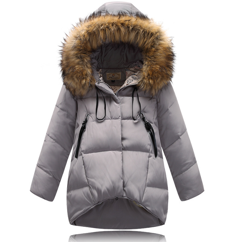 92b54214e Buy Hot 2015 Fashion Big Fur Collar Girls Winter Duck Down Coat Long ...