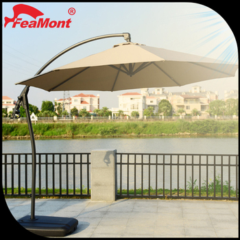 Merveilleux Luxury Cantilever Round LED Light Used Patio Umbrella