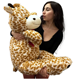 giraffe plush toy /plush giraffe / Plush Large Brown Giraffe Toy