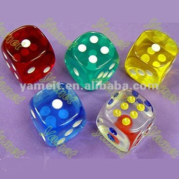 Colorful acrylic dice gifts