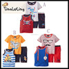 Most popular baby three-piece boys baby clothes Stripe vest ,t-shirts and pants sport clothing plus size clothing